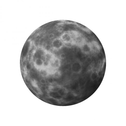 An alien moon rendering.