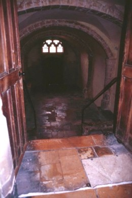 Closer view of the entrance to the Gryffindor common room