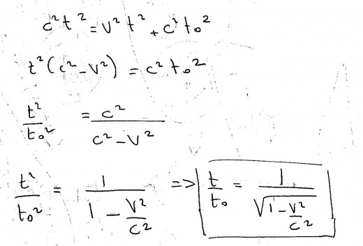 The time dilation equation.
