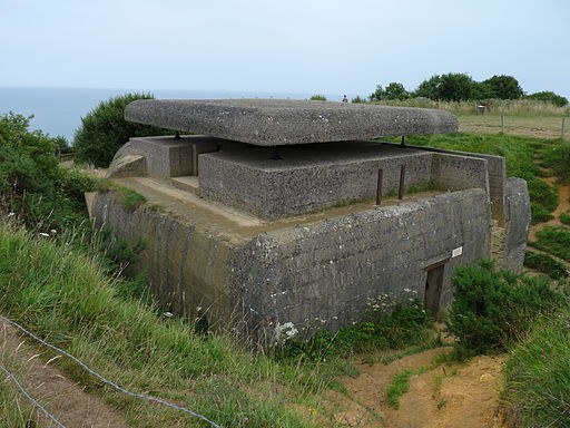 Forward bunker Longues sur mer battery, between Omaha and Gold beach, Normandy,