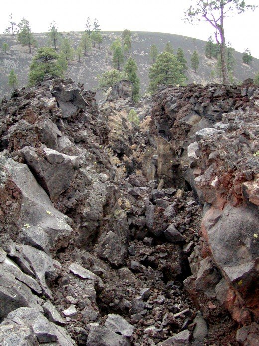 Sunset Crater Lava Flow Squeeze-up