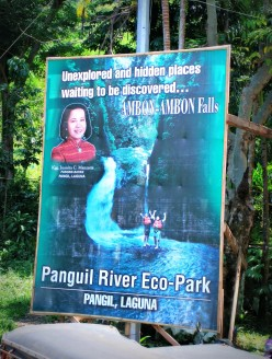 At the entrance of the Panguil River Eco Park.