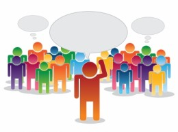 Speaking to people In a crowd is easier than dictating to a computer.