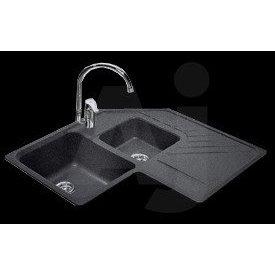 Granite corner kitchen sink combo