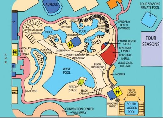 Mandalay bay beach map