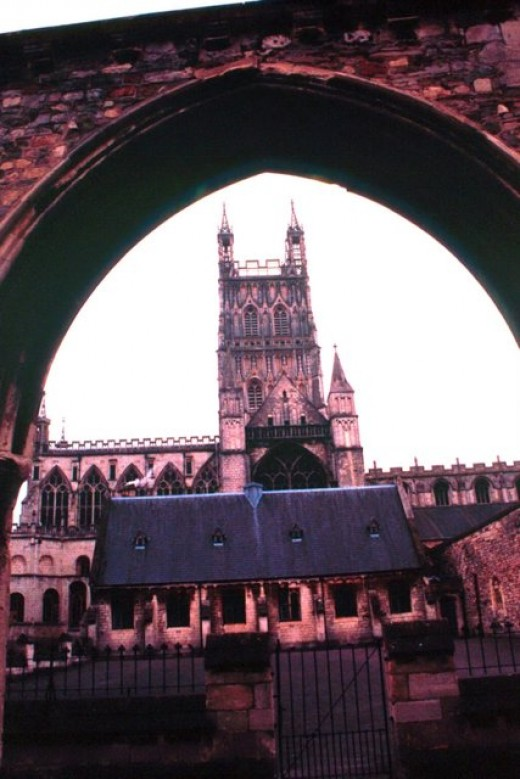 Cathedral as seen from the adjoining school from which extras were drawn.
