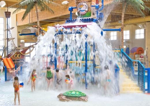 Boji splash indoor water park in Arnolds park, IA