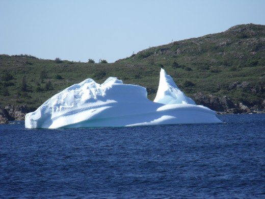 Icebergs come in different shapes and sizes.