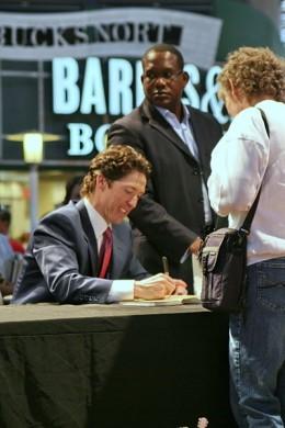 Joel Osteen at book signing