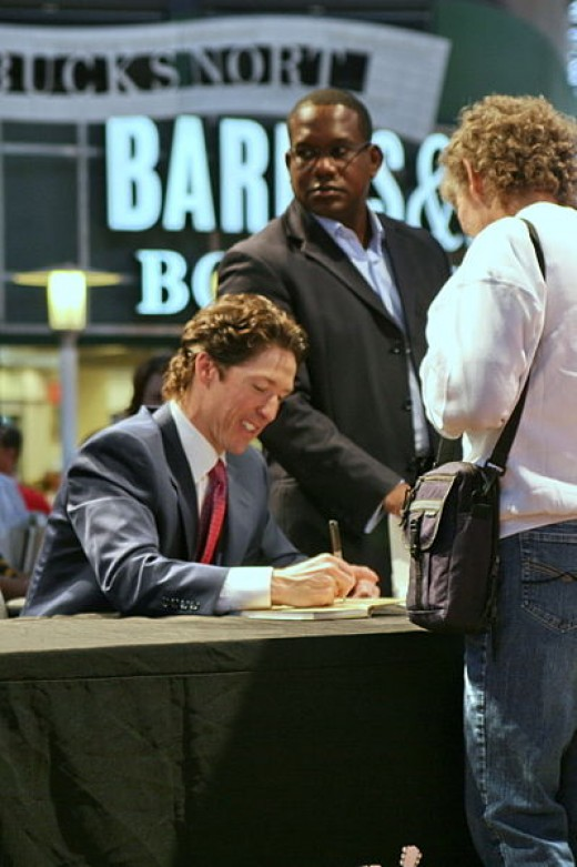 Joel Osteen at book signing
