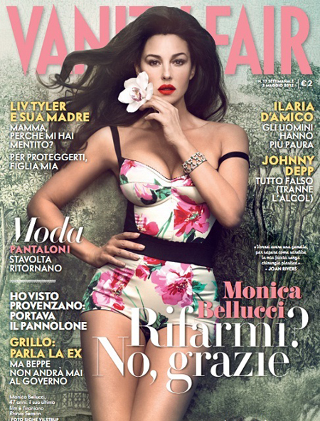 Monica Bellucci on the cover of Vanity Fair Italia Magazine 2012