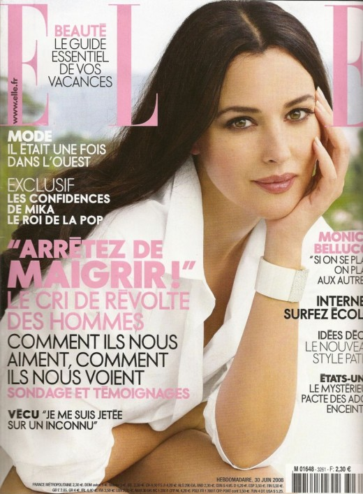 Monica Bellucci on the cover of French Elle Magazine