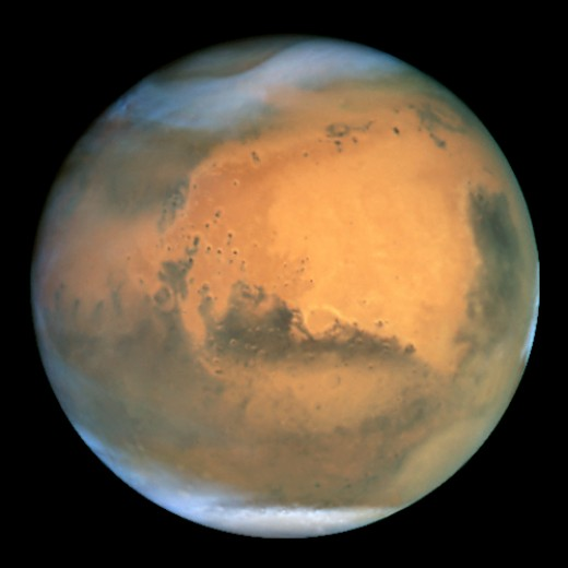 Mars as seen by the Hubble Space Telescope (true colour) Mars is a lifeless planet but may have hosted life at one point in it's history