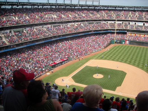 The Rangers Field and Fans