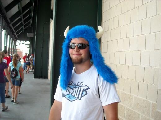 I think he is a Rangers fan?