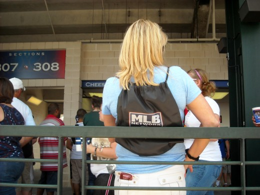 Rangers Fan with Promo Backpack
