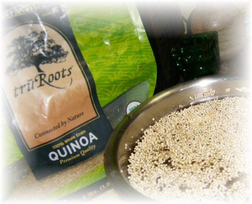 Soaking Quinoa...it removes an outer layer  which can be starchy