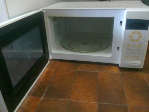 Microwave- easy to clean.