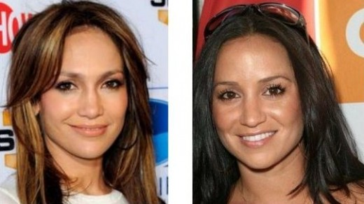 Celebrity Look Alikes Jennifer Lopez and Veronica Portillo