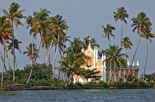 Church on Backwaters-Alleppey (Alappuzha)