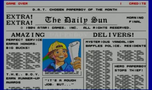 Amazing paperboy delivers! Begin your round in Paperboy