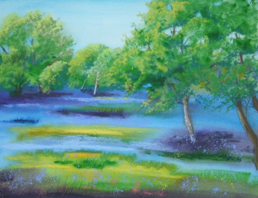 Bluebells and Buttercups - SOLD