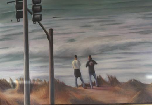 Ocean View Painting, Beach Chalet, Golden Gate Park, San Francisco   deedsphoto