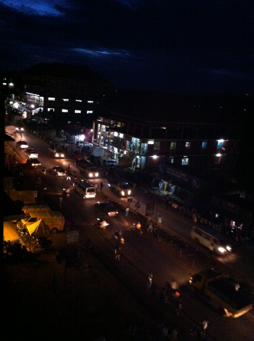 A photo taken in the night