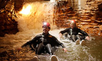 Rafting underground
