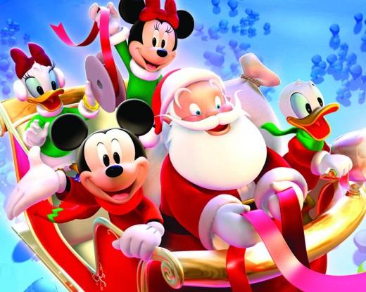 Santa with Mickey
