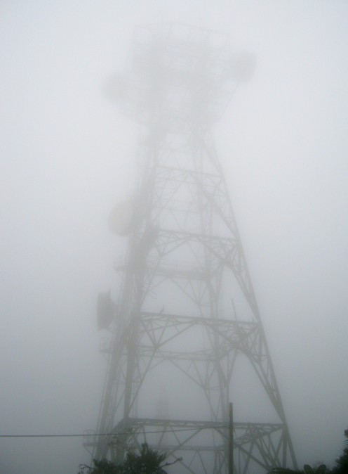 One of several communications towers on Cerro Maravilla.