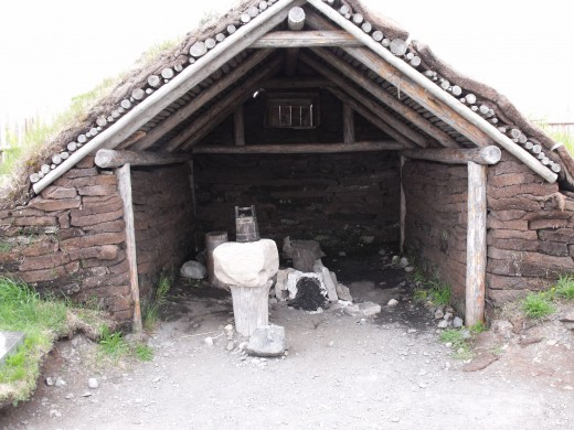 Replica of blacksmith shop.