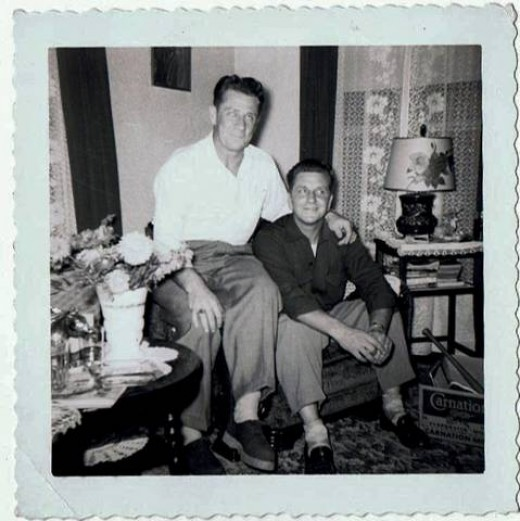 My Uncle Les and my dad.