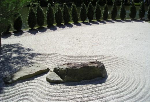 Japanese rock garden- St. Louis Botanical Gardens