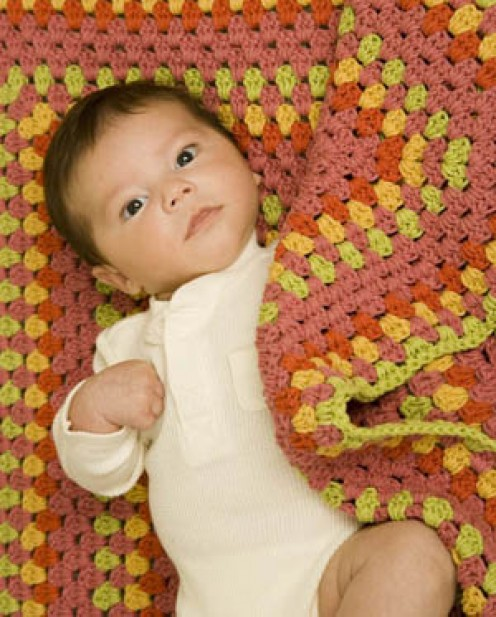 Bright Baby Blanket by Lion Brand