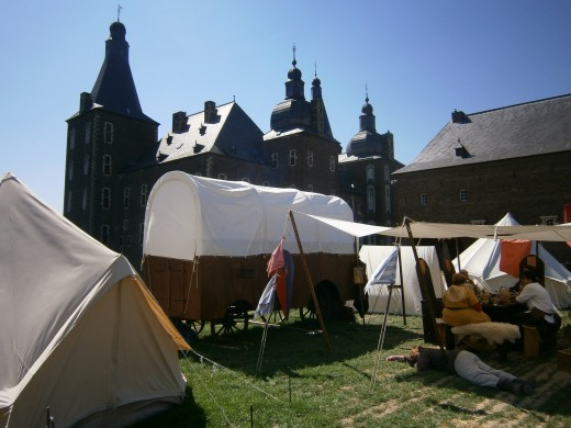 The main encampment outside of the castle.