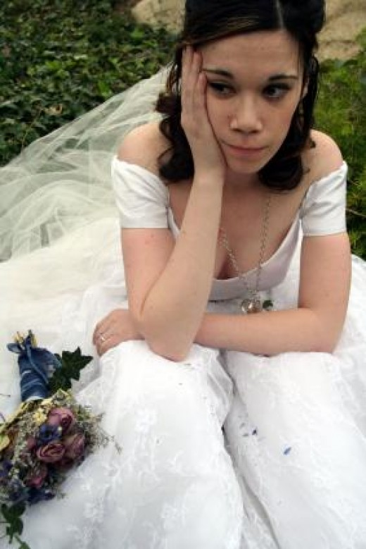 She said yes to the dress, is that all she wanted? What about the man?