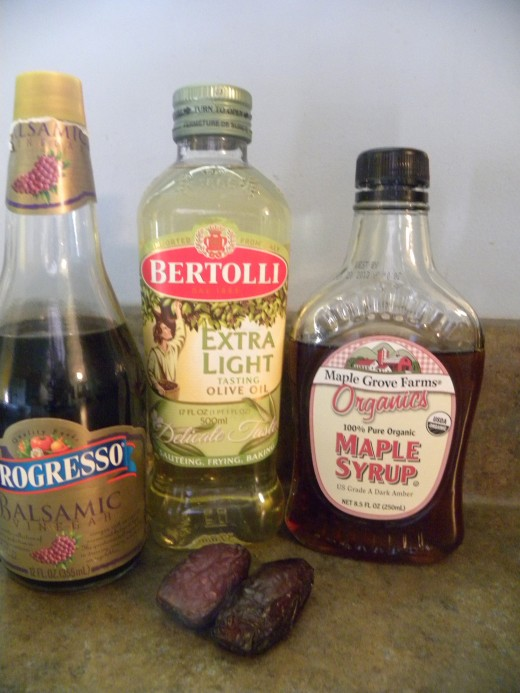 Ingredients for Balsamic Fig Dressing
