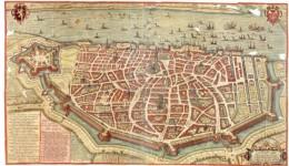 Map of Antwerp, around 1598
