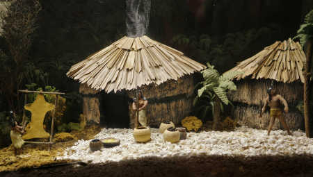 Diorama of a Tocobaga Tribe Village