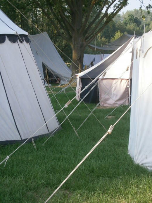 Main encampment, early morning
