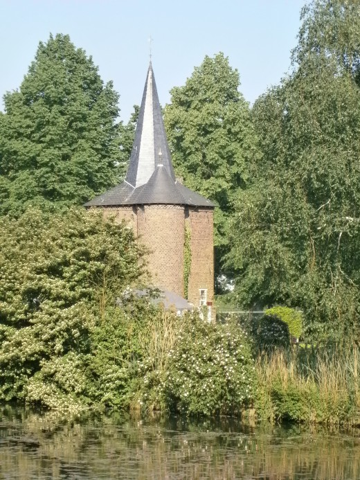 Corner tower in the herb garden. Taken from within the castle.