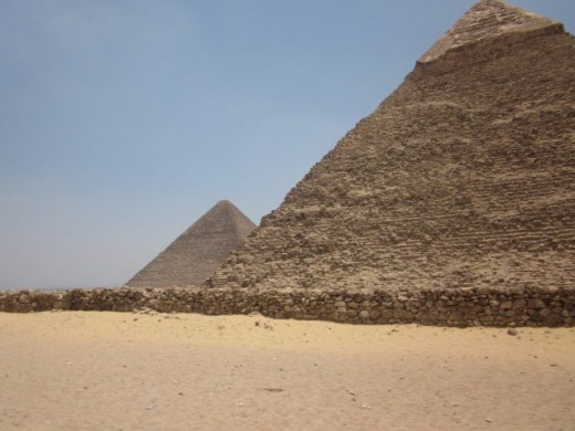 The pyramids of Giza are one of Egypt's most recognizable monuments.