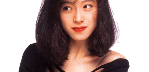 """Akina Nakamori promoting her best albums """"SUPER VALUE"""" and """"90's BEST""""."""
