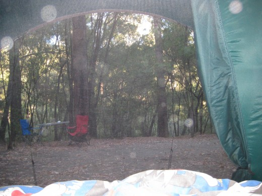 Enjoy the outdoors in a tent !