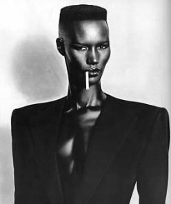 Power dressing as art - 80s icon, singer Grace Jones