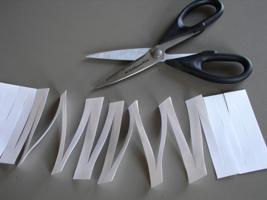 Paper object lesson - When unfolded the paper stretches into a large circle.