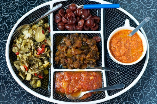 A relish tray can also be a great way of adding side dishes