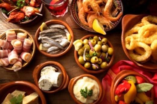 Some Spanish tapas relish tray ideas