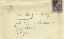 "What does ""ANSD"" mean on many WWII era letters and envelopes?"
